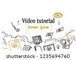 online education business video ... | Shutterstock .eps vector #1235694760