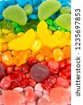 background of mixed colorful... | Shutterstock . vector #1235697853