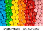 background of mixed colorful... | Shutterstock . vector #1235697859