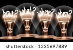 photo of light bulbs with... | Shutterstock . vector #1235697889