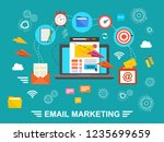 concept of running email... | Shutterstock . vector #1235699659