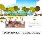 people group wear digital...   Shutterstock .eps vector #1235700109