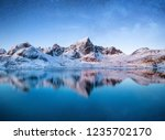 mountains at the night time.... | Shutterstock . vector #1235702170
