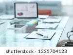 workplace of the businessman... | Shutterstock . vector #1235704123