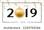 happy new year minimalistic... | Shutterstock .eps vector #1235705266