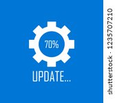 system software update and... | Shutterstock .eps vector #1235707210