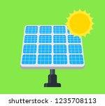 solar panel flat vector icon. | Shutterstock .eps vector #1235708113