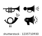 horn sound vector icon... | Shutterstock .eps vector #1235710930