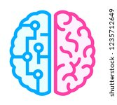 left and right brain difference ... | Shutterstock .eps vector #1235712649