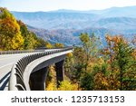 Small photo of Missing link road section of the Foothills Parkway in fall colors.