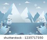 winter background illustration. ... | Shutterstock .eps vector #1235717350