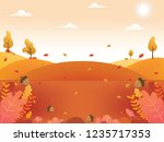 autumn background illustration. ... | Shutterstock .eps vector #1235717353