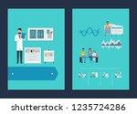 hospital data and nurse service ... | Shutterstock . vector #1235724286