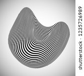 optical illusion lines... | Shutterstock .eps vector #1235726989