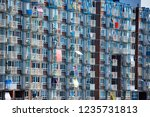 apartment building with...   Shutterstock . vector #1235731813