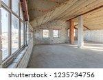 the second attic floor of the... | Shutterstock . vector #1235734756