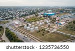 industrial zone with chemical... | Shutterstock . vector #1235736550