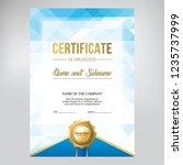 certificate design  creative... | Shutterstock .eps vector #1235737999
