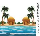 beach and island scenery | Shutterstock .eps vector #1235738200