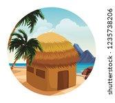 beach and island scenery | Shutterstock .eps vector #1235738206