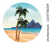 beach and island scenery | Shutterstock .eps vector #1235738209