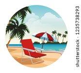 beach and island scenery | Shutterstock .eps vector #1235738293