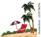 beach and island scenery | Shutterstock .eps vector #1235738296