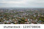 village town aerial view far... | Shutterstock . vector #1235738836