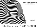 optical illusion lines... | Shutterstock .eps vector #1235740330