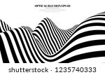 optical illusion lines... | Shutterstock .eps vector #1235740333