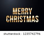 holiday letters with gold... | Shutterstock .eps vector #1235742796