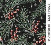 christmas seamless pattern ... | Shutterstock .eps vector #1235744029
