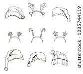 line art set collection of... | Shutterstock .eps vector #1235744119