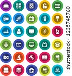 white solid icon set  washer... | Shutterstock .eps vector #1235745760