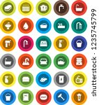 white solid icon set  soap...   Shutterstock .eps vector #1235745799