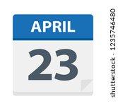 april 23   calendar icon  ...   Shutterstock .eps vector #1235746480