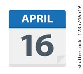 April 16 - Calendar Icon - Vector Illustration