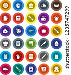 white solid icon set  pan... | Shutterstock .eps vector #1235747299