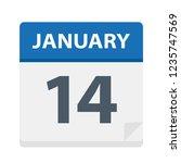 january 14   calendar icon  ... | Shutterstock .eps vector #1235747569