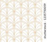 seamless art deco pattern.... | Shutterstock .eps vector #1235750059