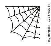 spider web thin line vector...   Shutterstock .eps vector #1235750359