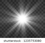white glowing light. beautiful... | Shutterstock .eps vector #1235753080
