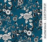 little flowers. seamless... | Shutterstock .eps vector #1235754919