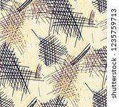 various pencil strokes.... | Shutterstock .eps vector #1235759713