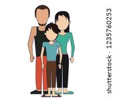 parents with son | Shutterstock .eps vector #1235760253