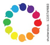 vector illustration of rainbow... | Shutterstock .eps vector #1235769883