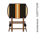 gong and sticks music instrument | Shutterstock .eps vector #1235771239