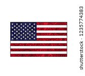 zentangle colored flag of usa... | Shutterstock . vector #1235774383
