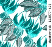 creative seamless pattern with... | Shutterstock . vector #1235774626