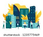 vector flat illustrations ... | Shutterstock .eps vector #1235775469